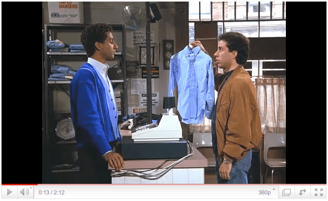Seinfeld at cleaners