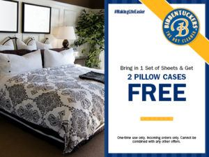 2 pillow cases washed for free coupon