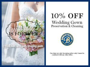 Wedding Gown Cleaning Coupons